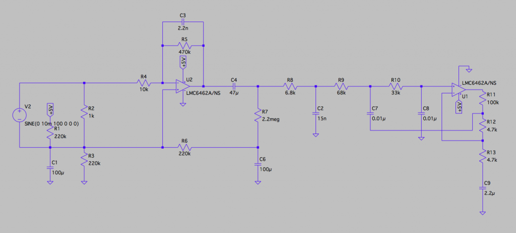 Final Analog Front-End Circuit