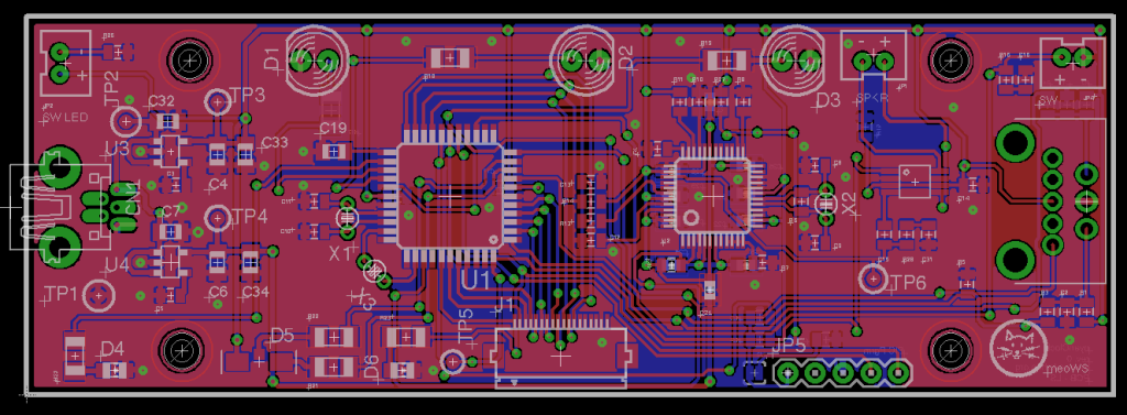 nyanClock PCB Layout